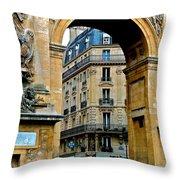 Port Saint Denis Throw Pillow