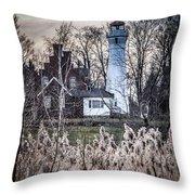 Port Sanilac Light Throw Pillow