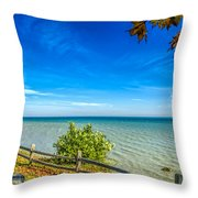 Port Sanilac Scenic Turnout Throw Pillow