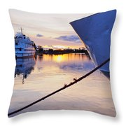 Port Sunrise Throw Pillow