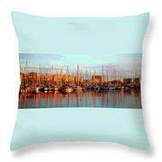 Port Vell - Barcelona Throw Pillow
