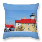 Port Washington Light Station  Throw Pillow