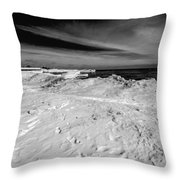 Port Washington - South Beach B-w  Throw Pillow