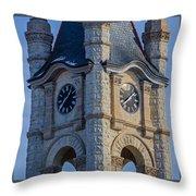 Port Washinton Court House Steeple 1  Throw Pillow