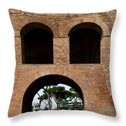 Porta Pinciana Throw Pillow
