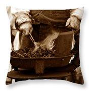 Portable Forge Circa 1800s Throw Pillow