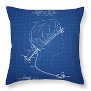 Portable Hair Dryer Patent From 1968 - Blueprint Throw Pillow