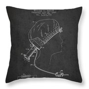 Portable Hair Dryer Patent From 1968 - Charcoal Throw Pillow