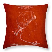 Portable Hair Dryer Patent From 1968 - Red Throw Pillow
