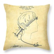 Portable Hair Dryer Patent From 1968 - Vintage Throw Pillow