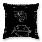 Portable Nuclear Fallout Shelters 2 Patent Art 1986 Throw Pillow