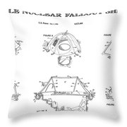 Portable Nuclear Fallout Shelters3  Patent Art 1986 Throw Pillow