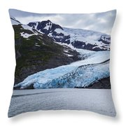 Portage Glacier Throw Pillow