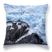Portage Glacier Rretreat Throw Pillow