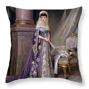 Portait Of Empress Maria  Fyodorovna Throw Pillow
