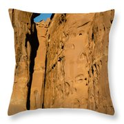 Portal Through Stone Throw Pillow