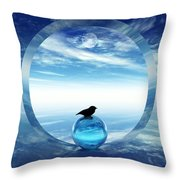 Portal To Peace Throw Pillow by Richard Rizzo