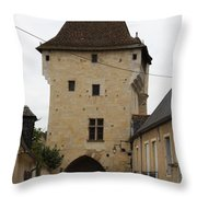 Porte Du Croux - Nevers Throw Pillow