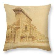 Porte St Denis, Paris Throw Pillow