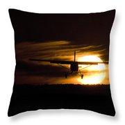Porter Sunset II Throw Pillow