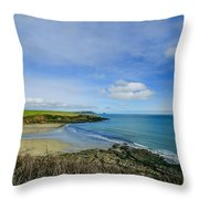 Porthcurnik Beach Cornwall Throw Pillow