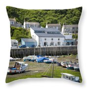 Porthleven Harbor - Low Tide Throw Pillow
