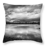 Porthmadog Lagoon Throw Pillow