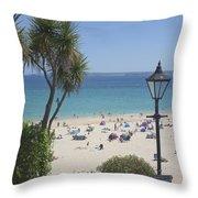 Porthminster Cornwall Throw Pillow