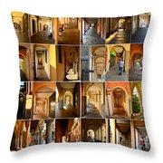 Porticos Of Padua Combined Throw Pillow