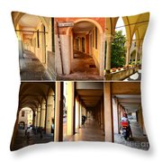 Porticos Of Padua No 4 Throw Pillow