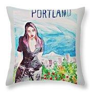 Portland 2011 Throw Pillow