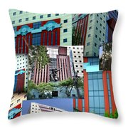 Portland Building Collage Throw Pillow