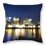 Portland Downtown Out Of Focus City Lights Throw Pillow