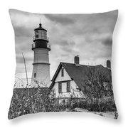 Portland Head Light 14431b Throw Pillow