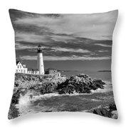 Portland Head Light 19456b Throw Pillow