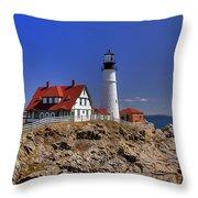 Portland Head Light 3 Throw Pillow