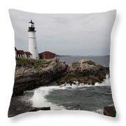 Portland Head Light - M E Throw Pillow