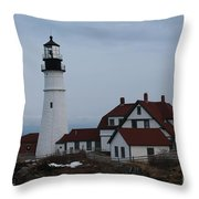 Portland Head Lighthouse 8529 Throw Pillow