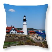 Portland Head Lighthouse Throw Pillow