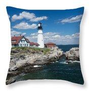 Portland Headlight 0219 Throw Pillow