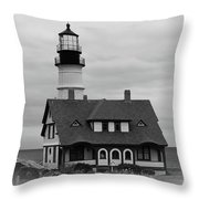 Portland Headlight 14221 Throw Pillow