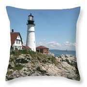 Portland Headlight Lighthouse 1 Throw Pillow
