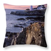 Portland Headlight Maine Throw Pillow