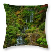 Portland Japanese Gardens Throw Pillow