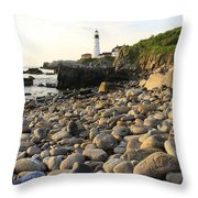 Portland Light House 2 Throw Pillow