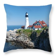 Portland Lighthouse 2 Throw Pillow