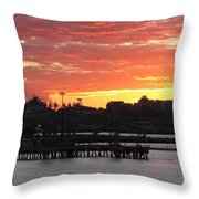 Portland Main Harbor Throw Pillow