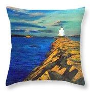 Portland Maine Harbor Throw Pillow