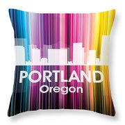 Portland Or 2 Throw Pillow