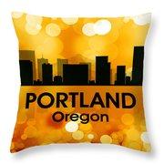 Portland Or 3 Throw Pillow